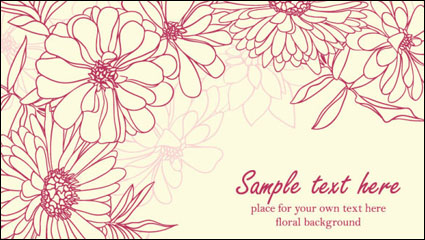 Link toBeautiful flowers background 03 - vector material