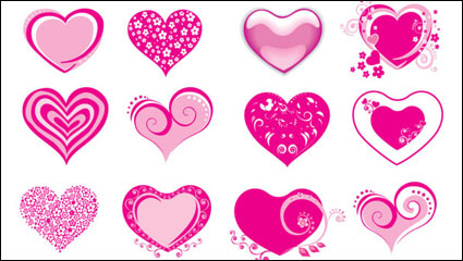 Link toPink heart-shaped icon - vector material