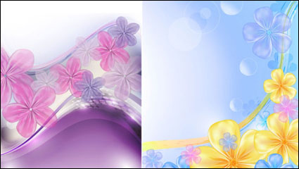 Link toBeautiful flowers background vector material