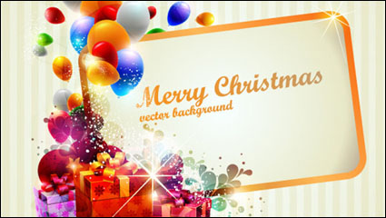 Brilliant Christmas gift box 02 - vector material