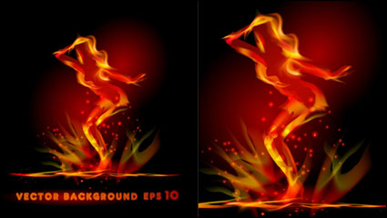Flame effect 04 - vector material