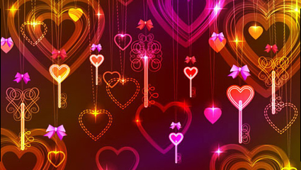 Link toValentine gorgeous light 03 - vector material