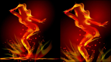 Link toFlame effects 05 - vector material
