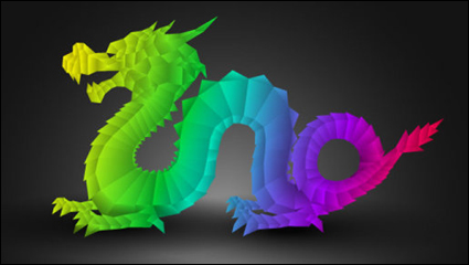 Link to2012 year of the dragon design 03 - vector material
