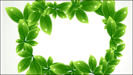 Link toGreen leaf shape border 03 - vector
