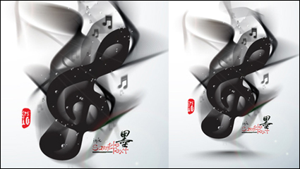 Link toInk on musical elements 05 - vector material