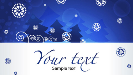 Link toChristmas blue background 03 - vector