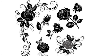 Link toHand-painted flowers material 02 - vector