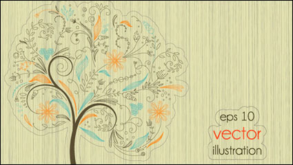Link toThe lines illustrator of trees 01 - vector material