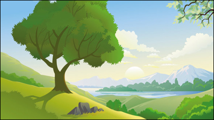Beautiful landscapes 05 - vector