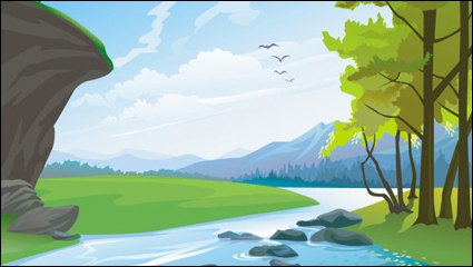 Beautiful landscapes 03 - vector