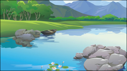 Beautiful landscapes 02 - vector