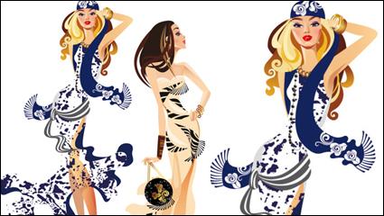 Link toFemale fashion illustrator 04 - vector
