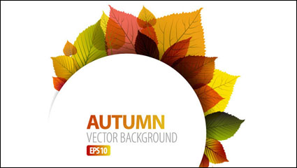 Link toAutumn leaves vector material -1