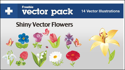Link toBeautiful flowers - vector
