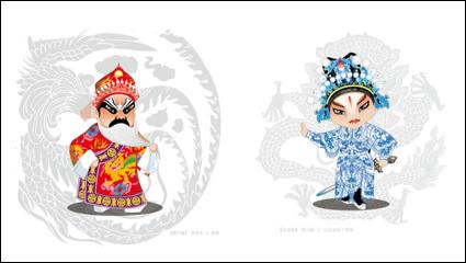 Link toThe cartoon opera figures 1 - vector