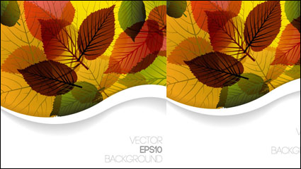 Link toAutumn leaves design vector material -3