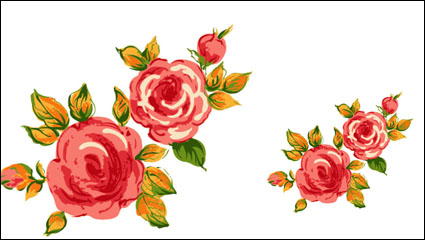 Rose bouquet 02 – vector material