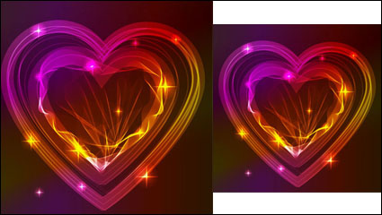 Link toValentine gorgeous light 02 - vector material