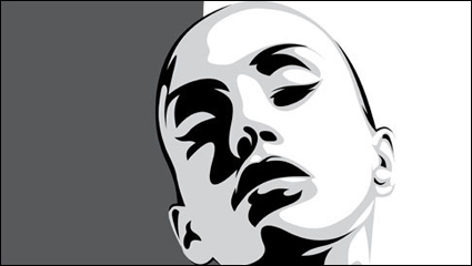 Link toBeautiful silhouette 02 - vector
