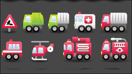 Cute transport vector material -4