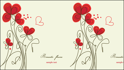 Link toStylish hand-painted flowers vector -3