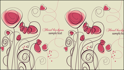 Link toStylish hand-painted flowers vector -2