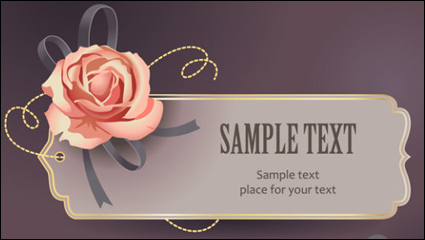 Link toVintage roses card text template vector material -3