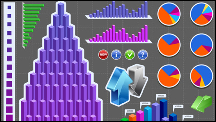 Link toStatistics icon 02 - vector material