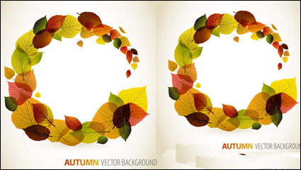 Link toAutumn leaves graphic design vector material -4