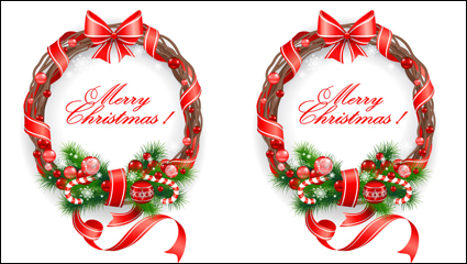 Link toChristmas decorative material 03 - vector material