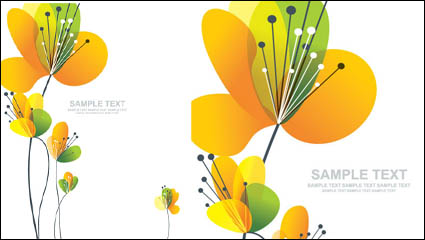 Link toLovely flowers vector material -2