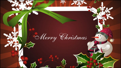 Link toThe exquisite christmas border background 03 - vector material