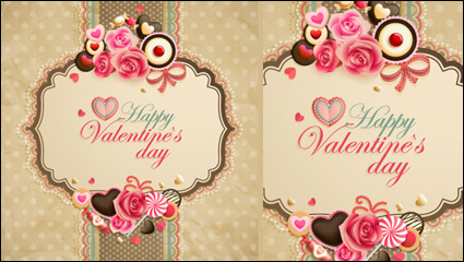 Link toValentine's day cordate cards vector -05