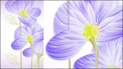Exquisite flowers 01 – vector