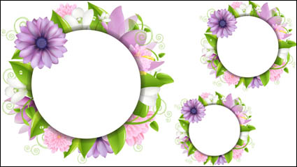 Flowers border 02 - vector material
