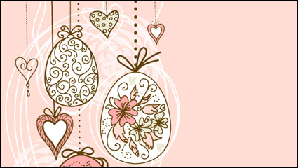 Link toHand-painted easter pattern 05 - vector material