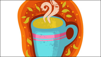 Link toCartoon coffee cup stickers 02 - vector material