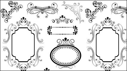Link toEuropean lines border 04 - vector material