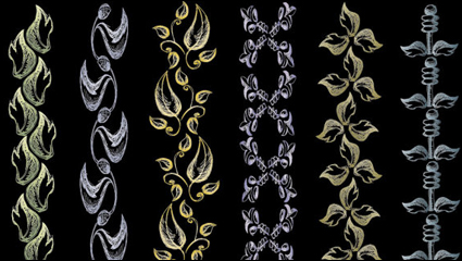 Link toEuropean lace pattern line draft 05 - vector material