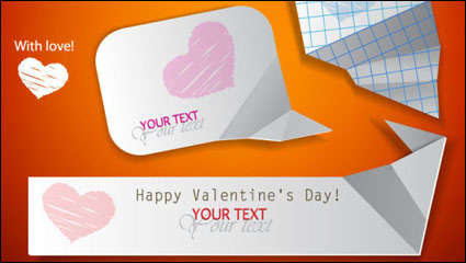 Link toValentine label elements 06 - vector material