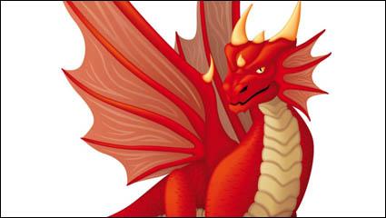 Link toCute cartoon dragon 02 - vector material