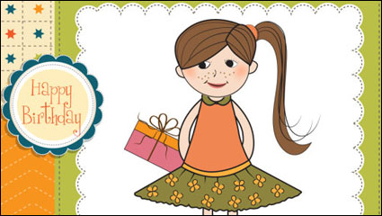Little girl cartoon 03 - Vector