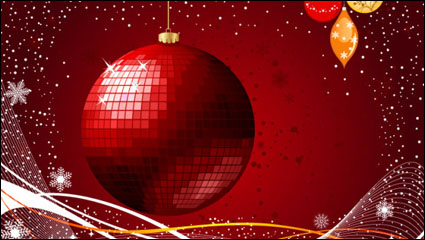 Link toThe exquisite christmas ball background 03 - vector material