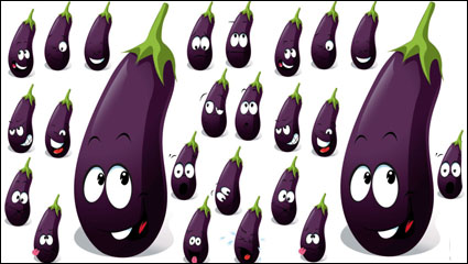 Cartoon vegetables expression 02 - vector material