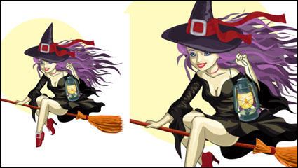 Link toCartoon witch 01 - vector material