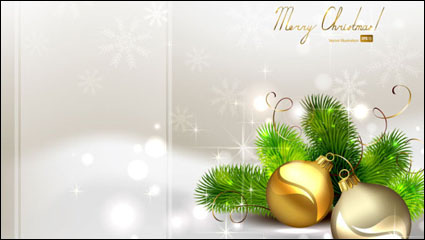 Link toThe exquisite christmas ball background 04 - vector material