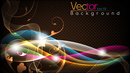 Fashion flare dynamic background 03 – vector material
