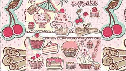 Link toThe cartoon cakes tag - vector