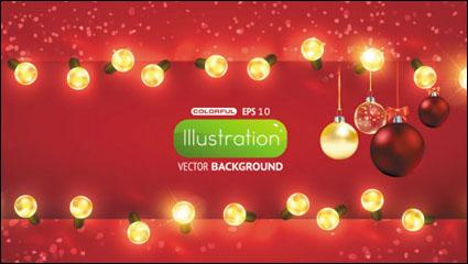 Link toBright christmas lights background 01 - vector material